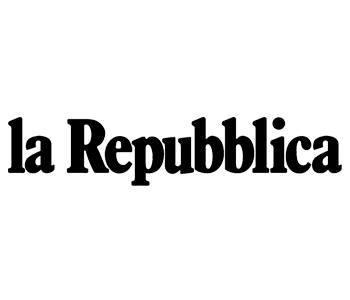 Logo del quotidiano La Repubblica sul sito del FIADEL