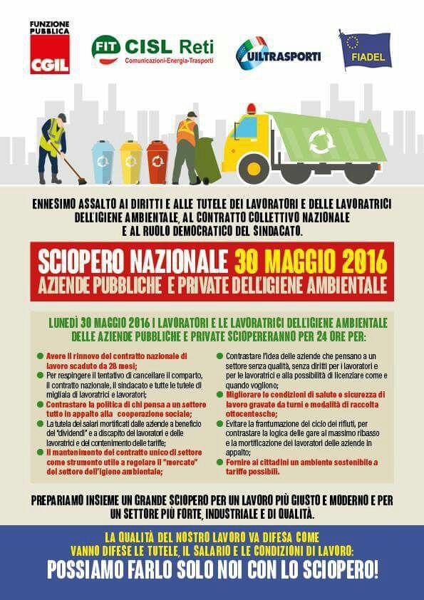5 manifesto sciopero nazionale 30 maggio 2016
