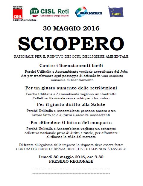 6 Volantino presidi SCIOPERO 30 maggio 2016