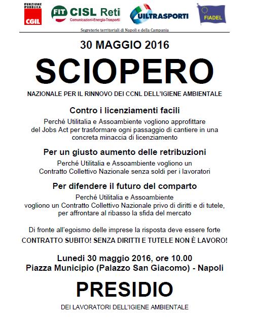 Volantino Presidio 30 maggio 2016 Campania 1