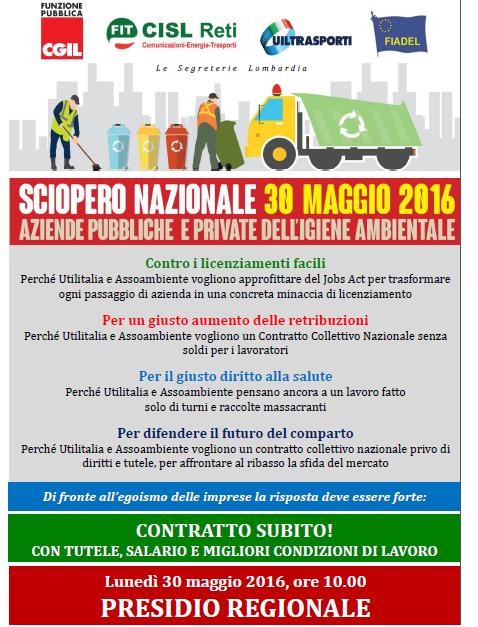 Volantino Presidio 30 maggio 2016 Lombardia