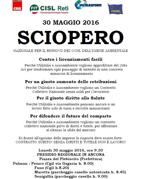 Volantino Presidio 30 maggio 2016 Marche