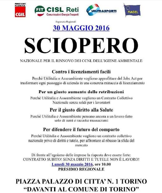 Volantino Presidio 30 maggio 2016 Piemonte