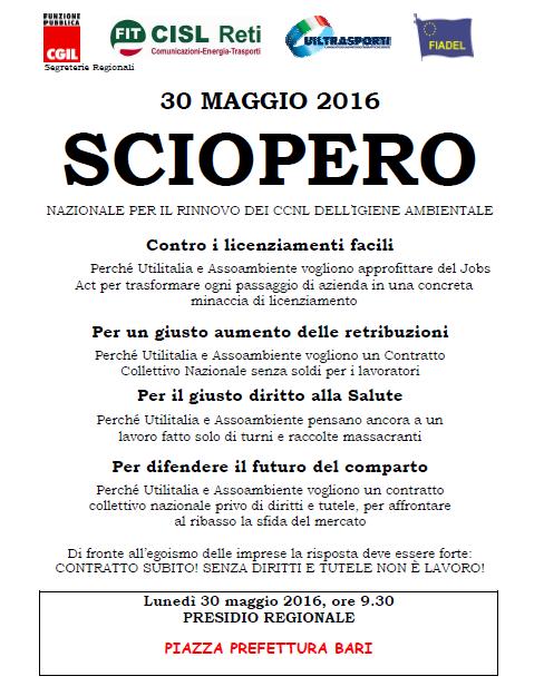 Volantino Presidio 30 maggio 2016 Puglia