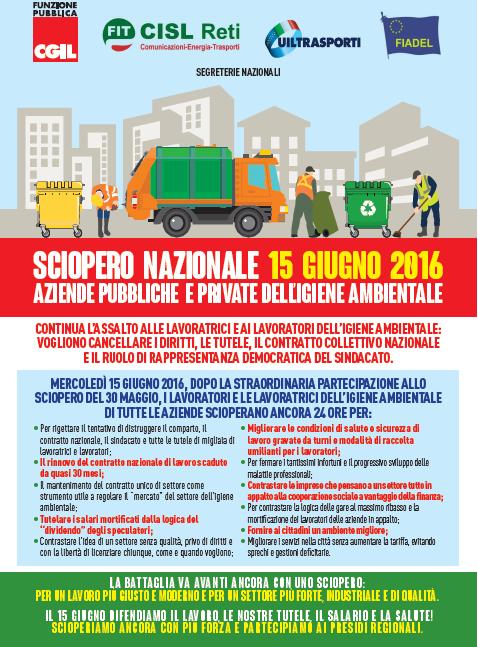 15 manifesto sciopero nazionale 15 giugno 2016